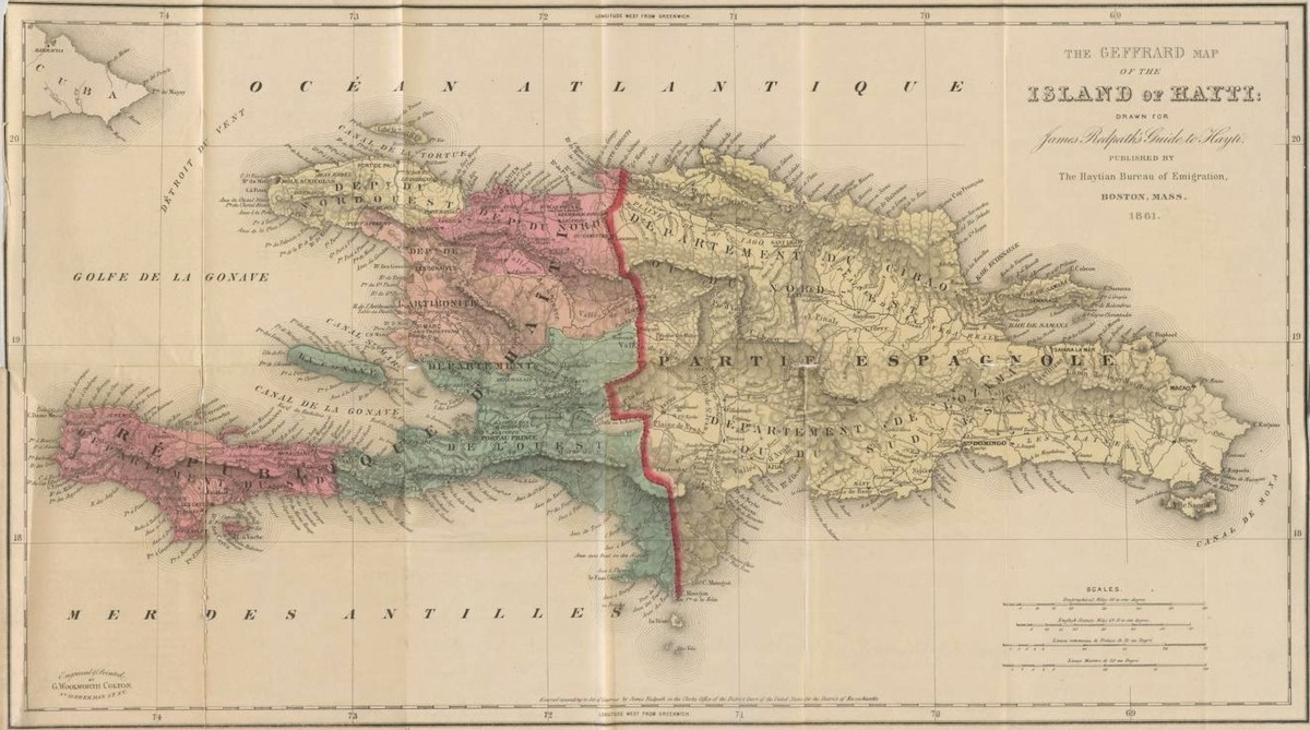 The 'Geffrard' map of Haiti, from A Guide to Hayti by James Redpath (1861)