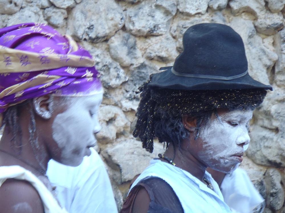 Vodou celebrants at Fet Gede