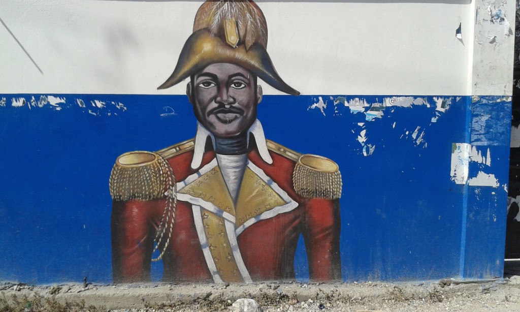 Mural on wall of Lycée Jean-Jacques Dessalines, Port-au-Prince.